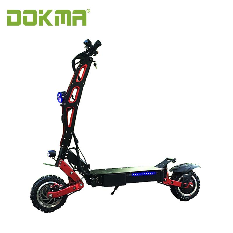 Dokma big powerful folding 60v 3200w dual motors electric scooter