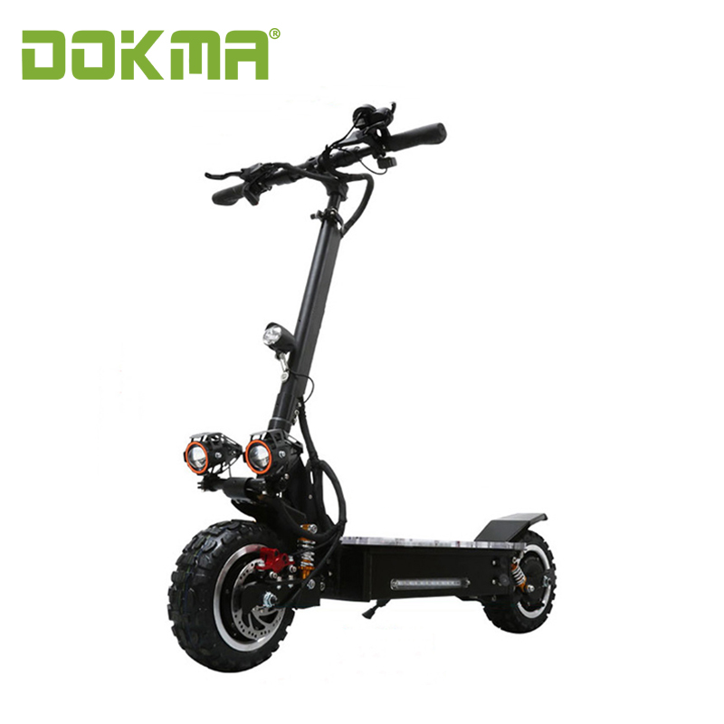 2018 new 60V 2000w Dual hub motor electric scooter with high quality DOKMA